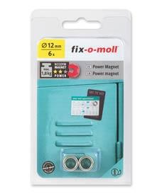 SUPER-SALE: fix-o-moll Neodym Magnete Ringe 12mm silber