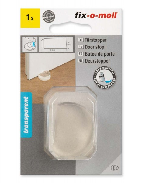 Türstopper transparent 38 x 16 mm fix-o-moll