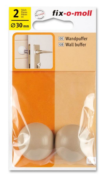 Wandpuffer rund 30mm beige fix-o-moll