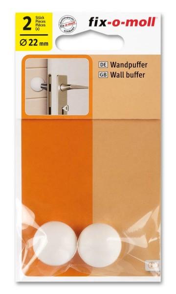 Wandpuffer rund 22mm weiß fix-o-moll