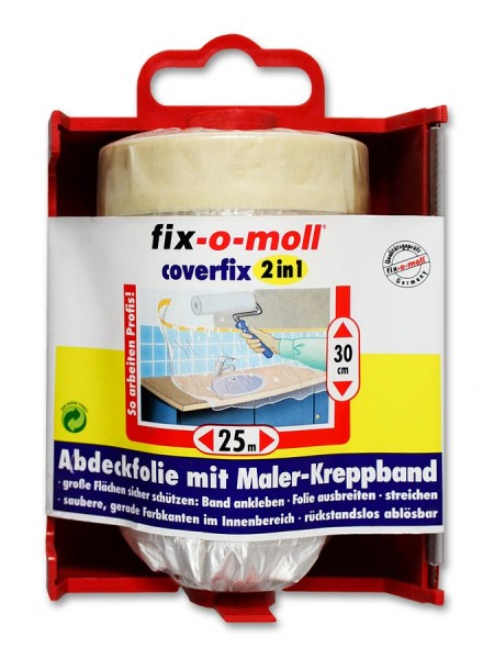 Kreppband Coverfix Dispenser fix-o-moll 25m x 30cm