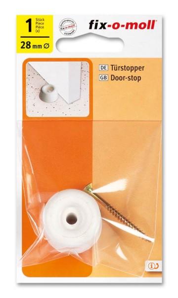 Türstopper fix-o-moll rund 28mm weiß