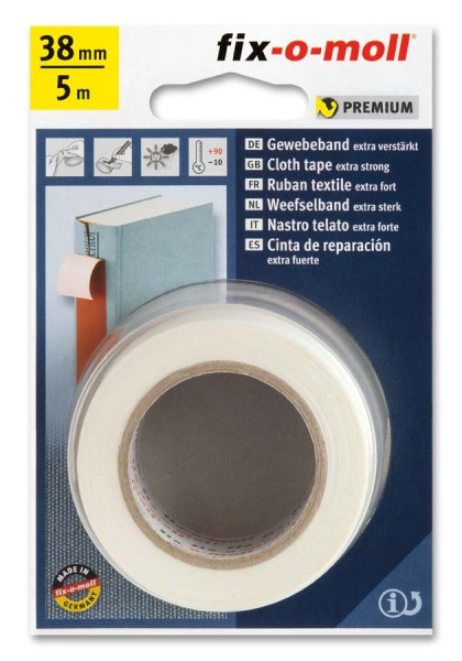 Gewebeband fix-o-moll 38mm weiß