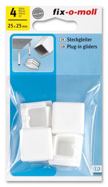 Steckgleiter fix-o-moll 25 x 25 mm weiß
