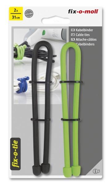 Kabelbinder lösbar fix-o-moll 310mm schwarz hellgrün