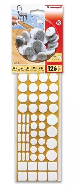 Filzgleiter Sortiment 126-teilig 2 Farben fix-o-moll