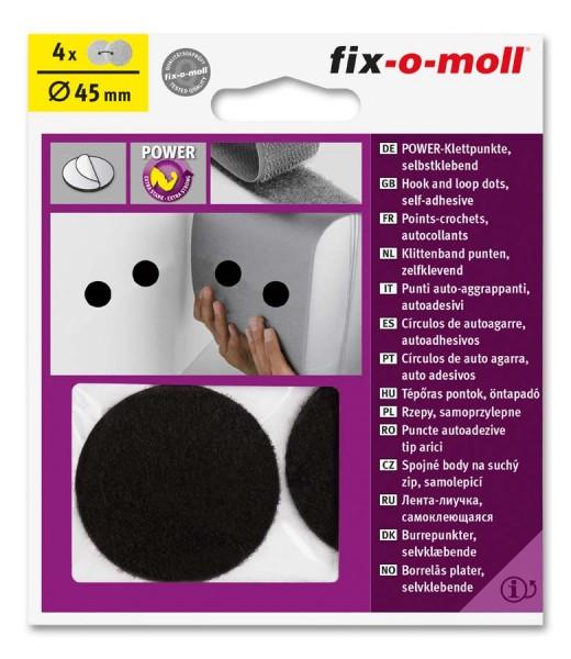 Power-Klettpunkte 45mm schwarz fix-o-moll