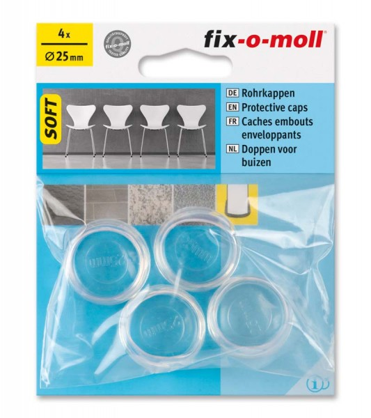 Rohrkappen Soft transparent 25 mm fix-o-moll