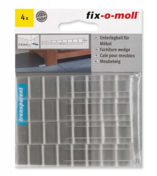 Unterlegkeile für Möbel transparent 100 x 20 mm fix-o-moll