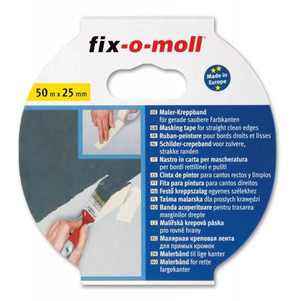 Kreppband Flachkrepp fix-o-moll 50m x 25mm