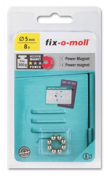 fix-o-moll Neodym Magnete Kugeln 5mm silber