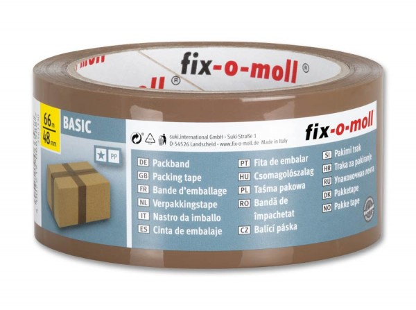Packband Basic 66m x 48mm braun fix-o-moll