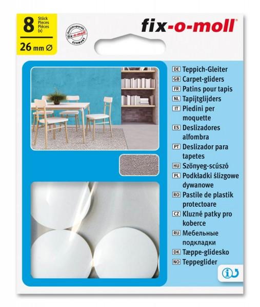 Teppichgleiter Möbelgleiter fix-o-moll rund 26 mm