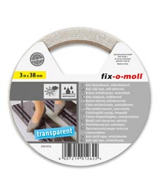 SUPER-SALE: Anti-Rutschband transparent 38mm fix-o-moll