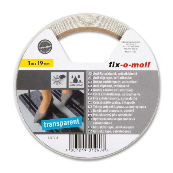 Anti-Rutschband transparent 19mm fix-o-moll