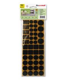 SUPER-SALE: Filzgleiter Sortiment 110-teilig 2 Farben fix-o-moll