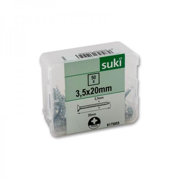 suki Universalschrauben Senkkopf 3,5x20mm PZ2 verzinkt VG 50St