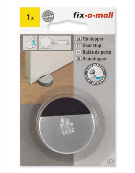 Türstopper matt silber 46 x 16 mm fix-o-moll