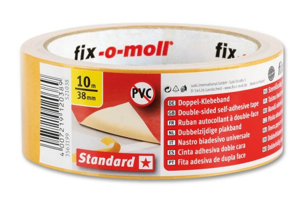 Verlegeband Teppichverlegeband fix-o-moll Standard 10 m x 38 mm
