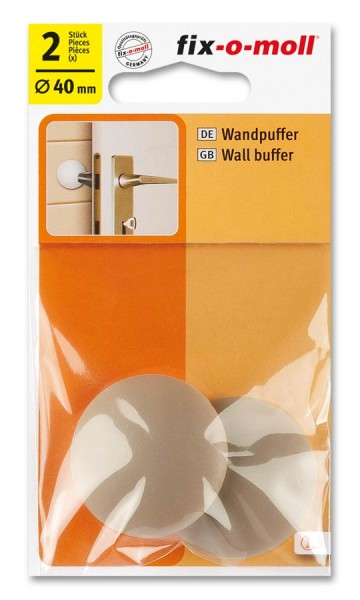 Wandpuffer rund 40mm beige fix-o-moll