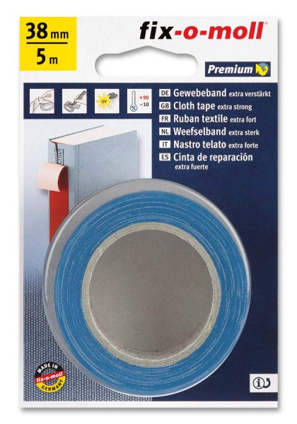 Gewebeband fix-o-moll 38mm blau