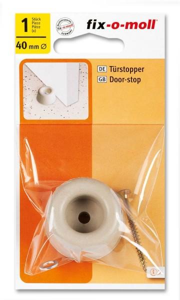 Türstopper fix-o-moll rund 40mm hellgrau