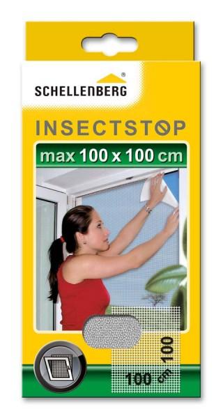 Fliegengitter Schellenberg für Fenster 100 x 100cm weiß