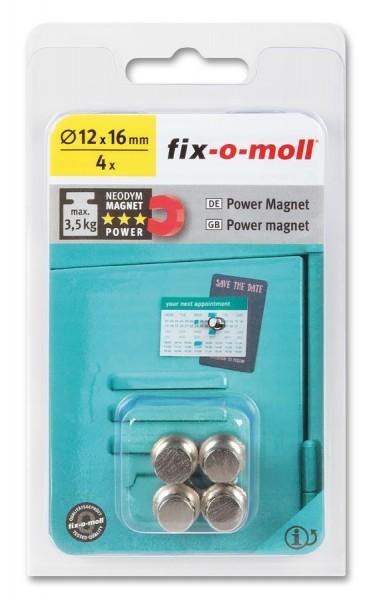 fix-o-moll Neodym Magnete Kegel 12mm silber