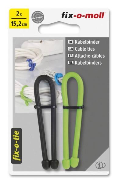 Kabelbinder lösbar fix-o-moll 152mm schwarz hellgrün