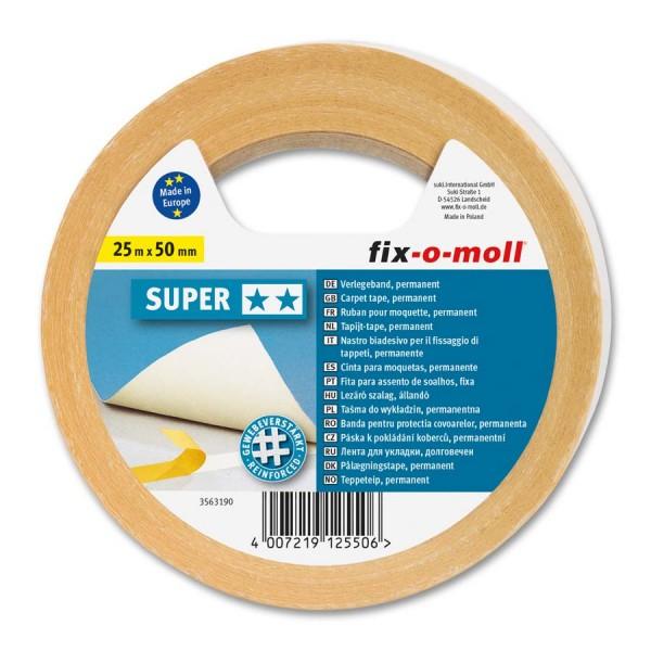 Verlegeband Teppichverlegeband fix-o-moll Super 25 m x 50 mm