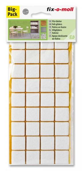 Filzgleiter selbstklebend fix-o-moll 22 x 22 mm Spar-Pack weiß