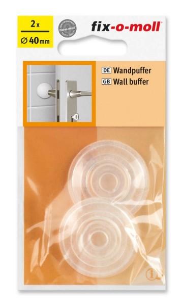Wandpuffer rund 40mm transparent fix-o-moll