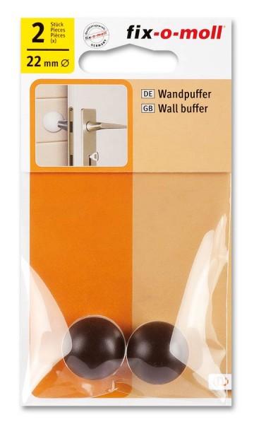 Wandpuffer rund 22mm braun fix-o-moll