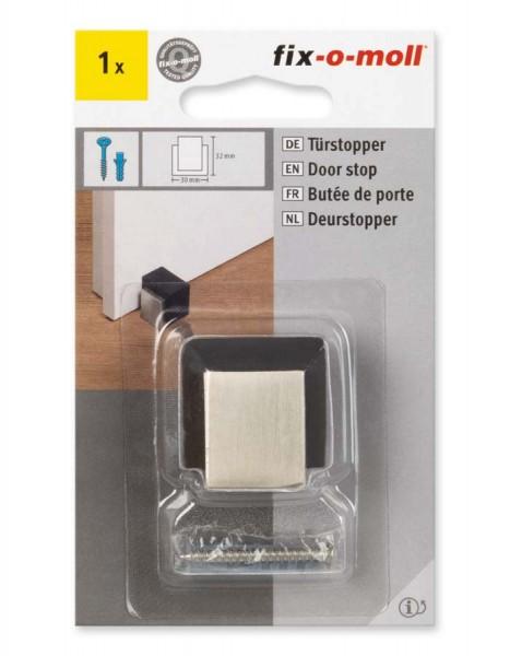 Türstopper Metall gebürstet 30 x 31 mm fix-o-moll