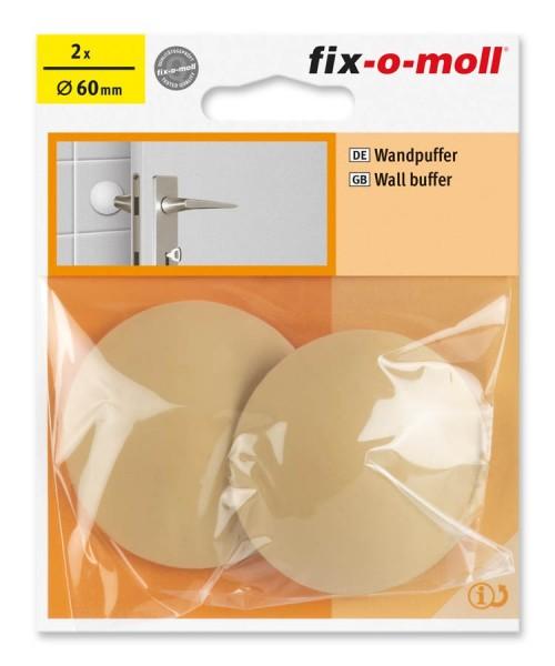 Wandpuffer rund 60mm beige fix-o-moll