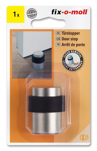 Türstopper selbstklebend Metall satiniert fix-o-moll 28-35mm x 43mm