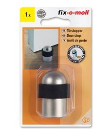 SUPER-SALE: fix-o-moll Türstopper Metall satiniert 28-35mm x 50mm