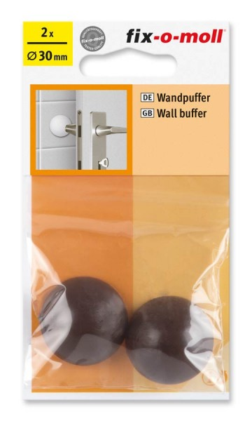 Wandpuffer rund 30mm braun fix-o-moll