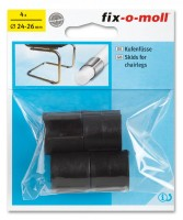 Kufenfüße Möbelgleiter fix-o-moll rund 24-26 mm