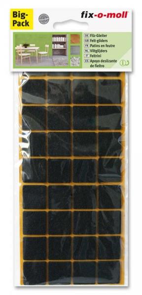 Filzgleiter selbstklebend fix-o-moll 22 x 22 mm Spar-Pack braun
