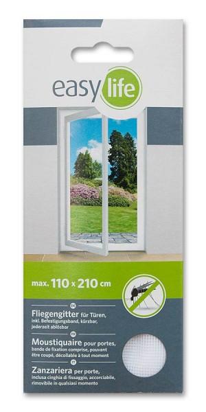Fliegengitter Insektenschutz easy life für Türen weiß