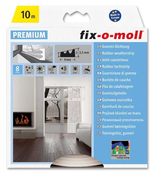 E-Profildichtung Gummidichtung fix-o-moll 10 m weiß