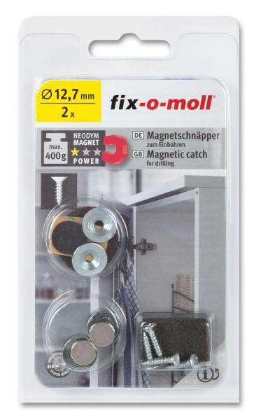 fix-o-moll Neodym Magnetschnäpper zum Einbohren 12,7mm
