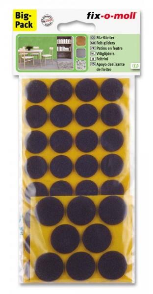 Filzgleiter selbstklebend fix-o-moll Kombi-Sparpack braun