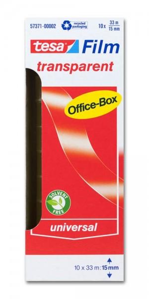 Klebefilm transparent Officebox 33m x 15mm tesa