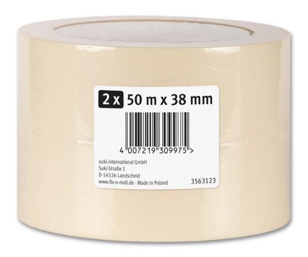 Kreppband Flachkrepp fix-o-moll 50m x 38mm 2er VE