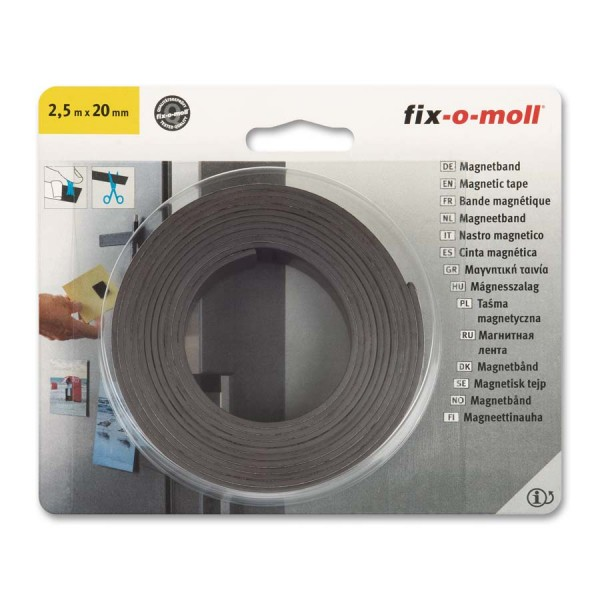 Magnetband selbstklebend 2,5 m x 20 mm fix-o-moll