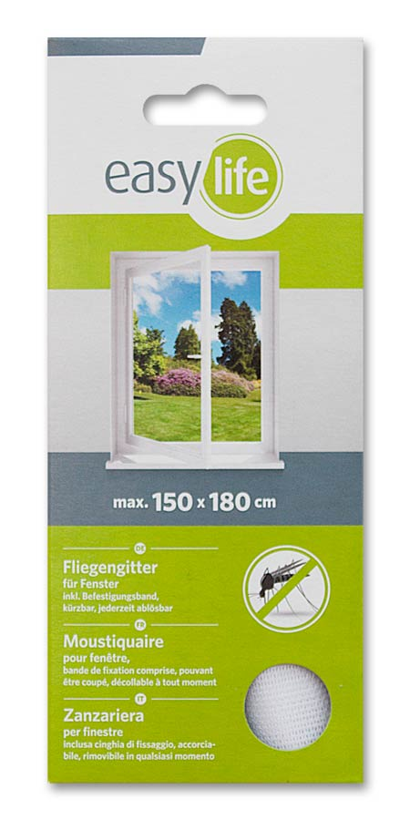 fliegengitter insektenschutz easy life f r fenster 150 x. Black Bedroom Furniture Sets. Home Design Ideas