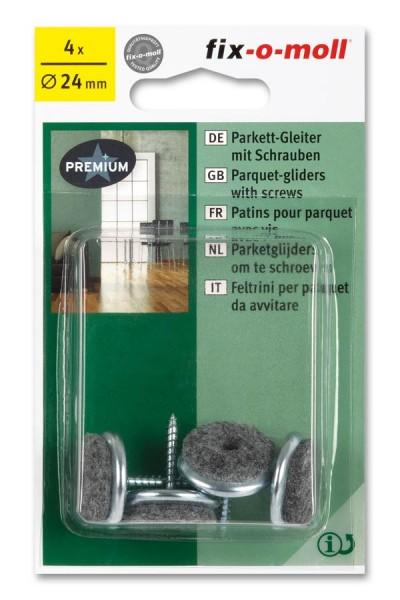 Parkettgleiter zum Schrauben fix-o-moll rund 24 mm