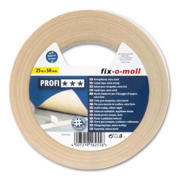 Verlegeband Teppichverlegeband fix-o-moll Profi 25 m x 50 mm
